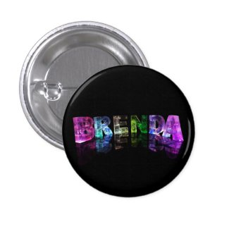 The Name Brenda in 3D Lights Button