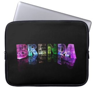 The Name Brenda in 3D Lights Laptop Computer Sleeves
