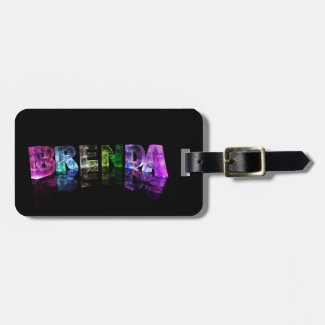 The Name Brenda in 3D Lights Luggage Tag