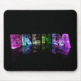 The Name Brenda in 3D Lights Mouse Pad