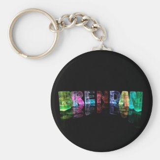 The Name Brendan in 3D Lights Key Chain