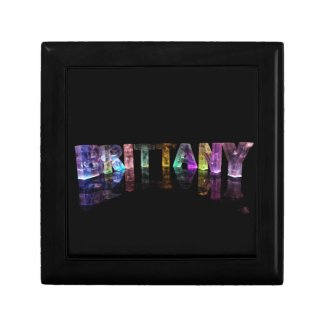 The Name Brittany in 3D Lights Jewelry Boxes