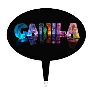 The Name Camila in 3D Lights Cake Topper