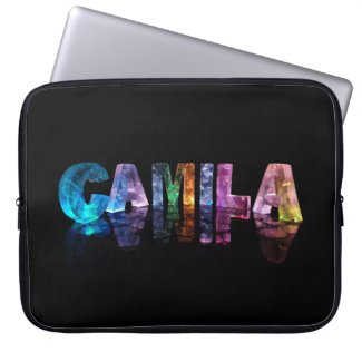 The Name Camila in 3D Lights Computer Sleeve