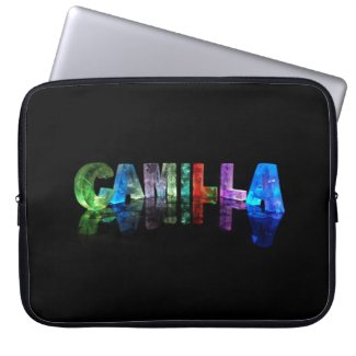 The Name Camilla in 3D Lights Computer Sleeve