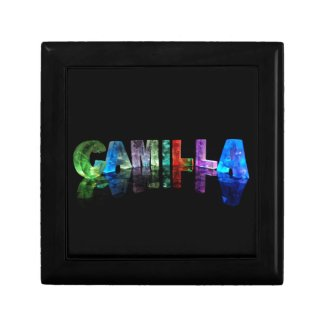 The Name Camilla in 3D Lights Jewelry Boxes