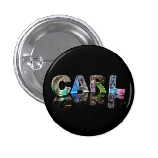 The Name Carl in Fancy Letters Pinback Button