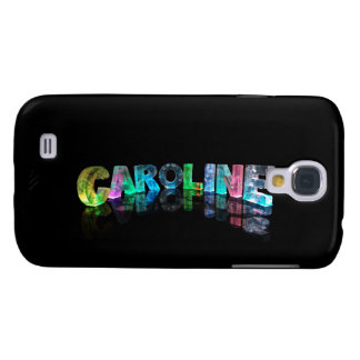 The Name Caroline in 3D Lights Galaxy S4 Case
