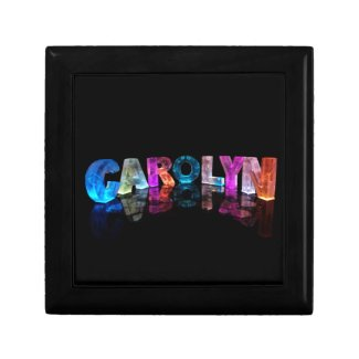 The Name Carolyn in 3D Lights Gift Box