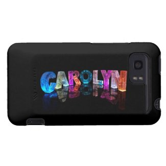 The Name Carolyn in 3D Lights HTC Vivid Covers