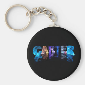 The Name Carter in 3D Lights Key Ring