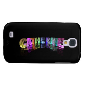 The Name Catherine in 3D Lights Galaxy S4 Case