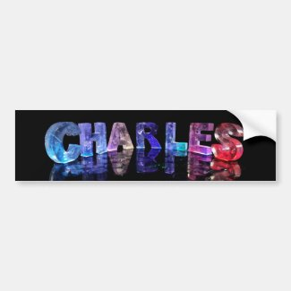 The Name Charles in 3D Lights Bumper Sticker