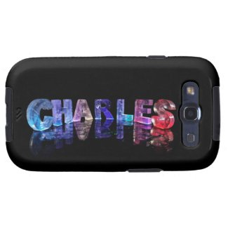 The Name Charles in 3D Lights Samsung Galaxy SIII Cases