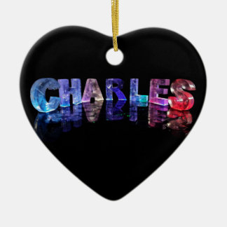 The Name Charles in 3D Lights Christmas Ornament