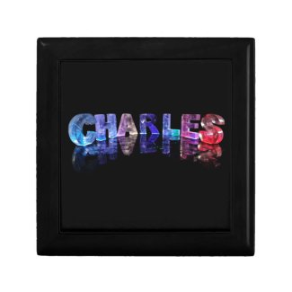 The Name Charles in 3D Lights Jewelry Boxes