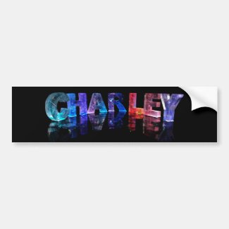 The Name Charley in 3D Lights Bumper Stickers