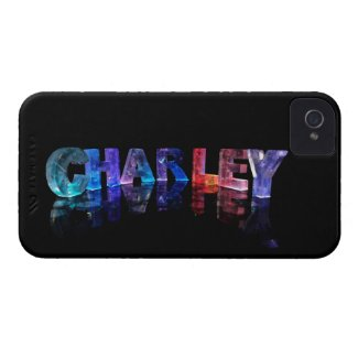 The Name Charley in 3D Lights iPhone 4 Cover