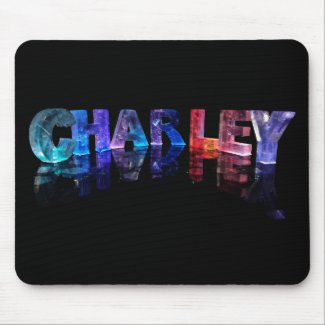 The Name Charley in 3D Lights Mouse Mats