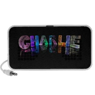 The Name Charlie in 3D Lights iPhone Speaker