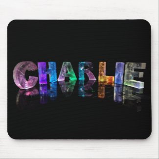 The Name Charlie in 3D Lights Mouse Mat
