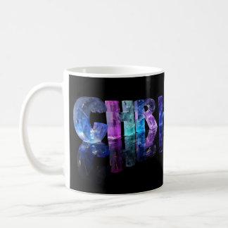 The Name Christian in 3D Lights Basic White Mug