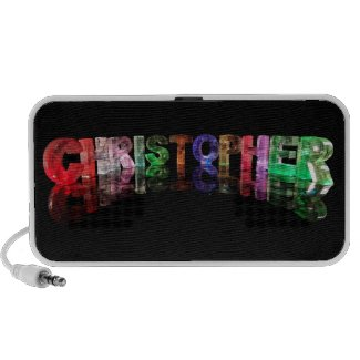 The Name Christopher in 3D Lights Mini Speakers