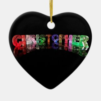 The Name Christopher in 3D Lights Ornament