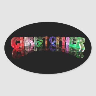 The Name Christopher in 3D Lights Stickers