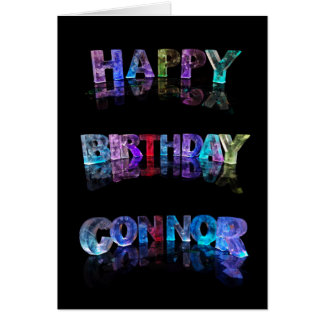 The Name Connor in 3D Lights Card