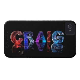 The Name Craig in 3D Lights iPhone 4 Case-Mate Case