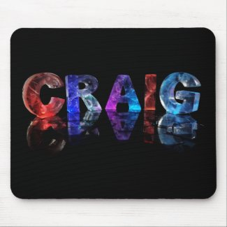 The Name Craig in 3D Lights Mousepad