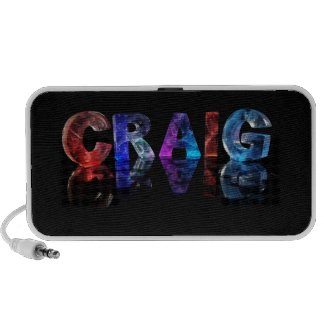 The Name Craig in 3D Lights Mp3 Speakers