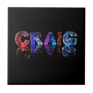 The Name Craig in 3D Lights Tile