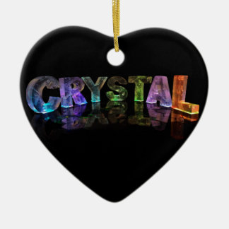 The Name Crystal in 3D Lights Christmas Ornament