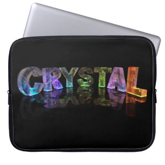 The Name Crystal in 3D Lights Laptop Sleeve