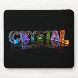The Name Crystal in 3D Lights Mouse Mat