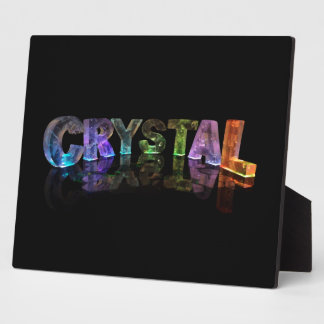 The Name Crystal in 3D Lights (Photograph) Plaque