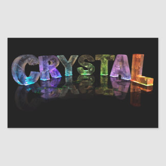 The Name Crystal in 3D Lights Rectangular Sticker