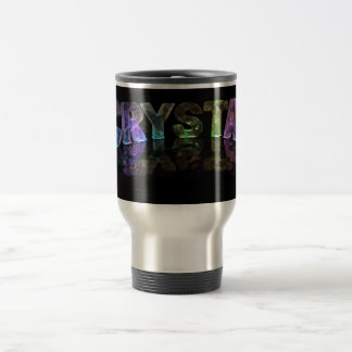 The Name Crystal in 3D Lights Travel Mug