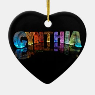 The Name Cynthia in 3D Lights Ornaments