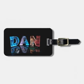 The Name Dan in 3D Lights (Photograph) Luggage Tags