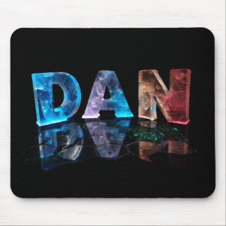 The Name Dan in 3D Lights (Photograph) Mouse Pad