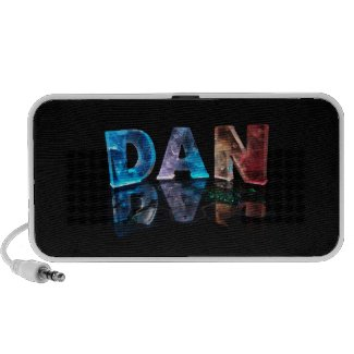 The Name Dan in 3D Lights (Photograph) Mp3 Speakers