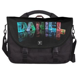 The Name Daniel in 3D Lights (Photograph) Bags For Laptop