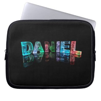 The Name Daniel in 3D Lights (Photograph) Laptop Sleeves