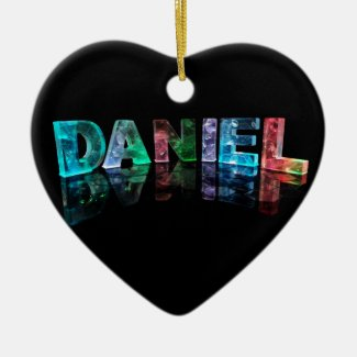 The Name Daniel in 3D Lights (Photograph) Christmas Ornaments