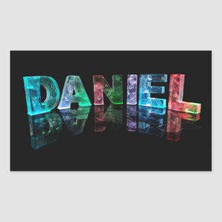 The Name Daniel in 3D Lights (Photograph) Sticker