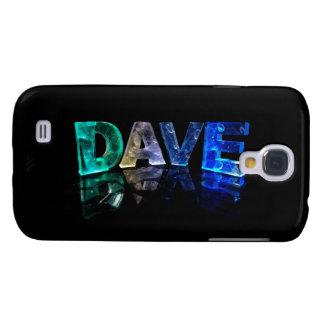 The Name Dave in 3D Lights (Photograph) Galaxy S4 Case