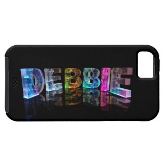 The Name Debbie in 3D Lights (Photograph) iPhone 5 Cases